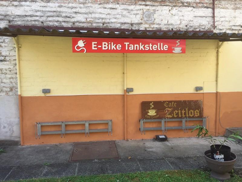 Cafe E-Bike Tankstelle
